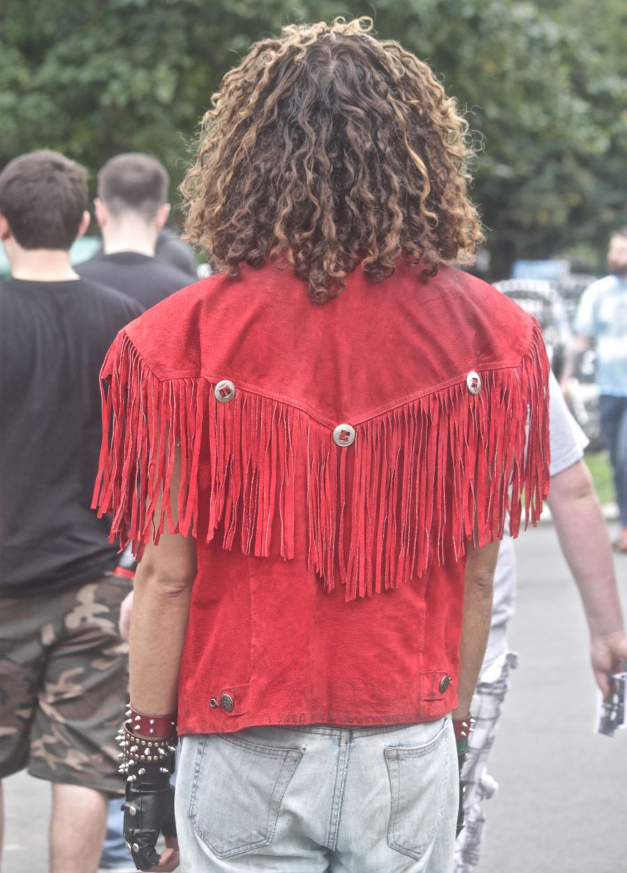 boston hemp fest 2013 man in red fringe jacket