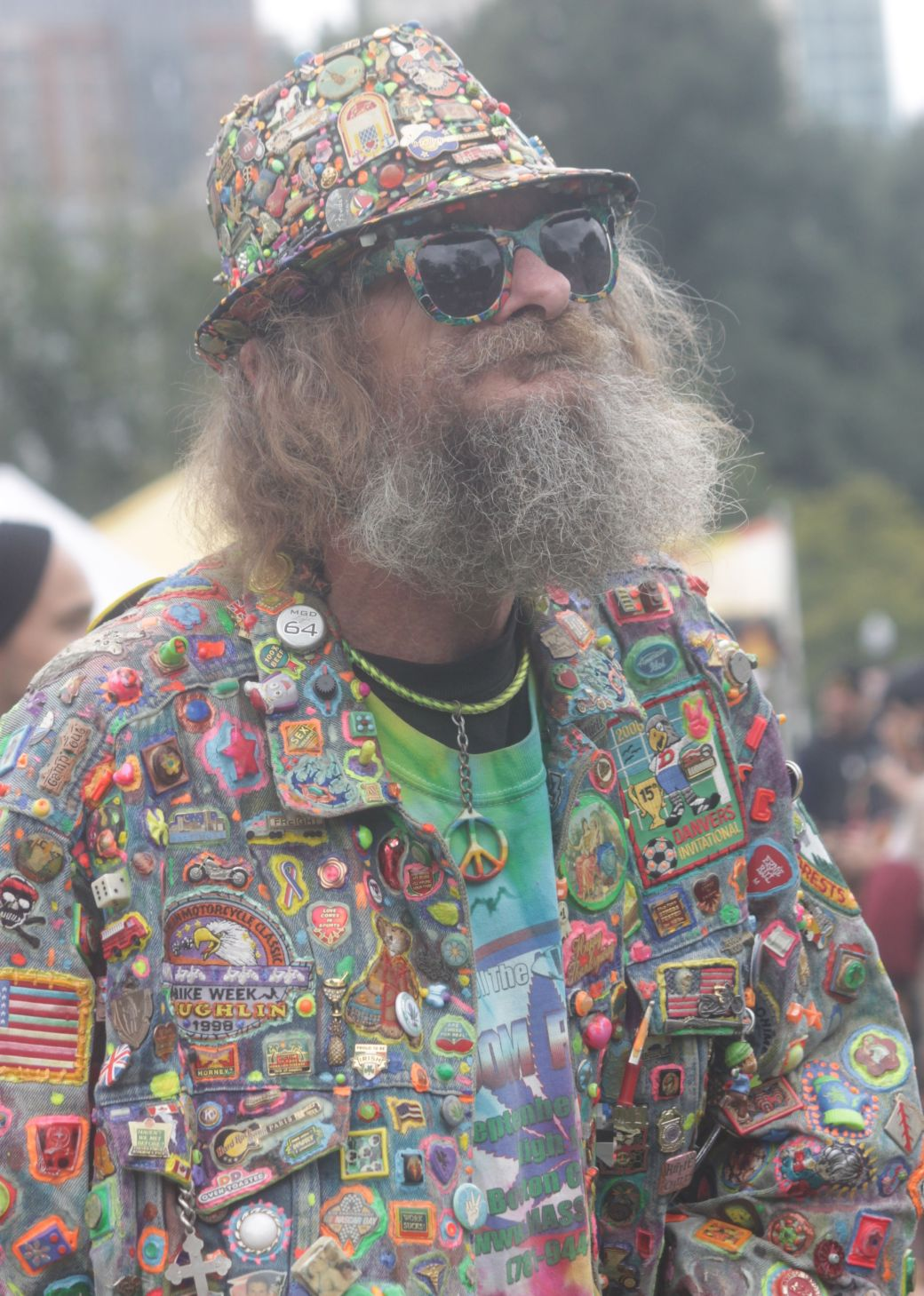 boston hemp fest 2013 man with patches face beard