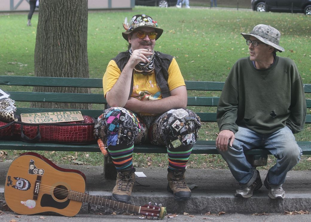 boston hemp fest 2013 men on bench