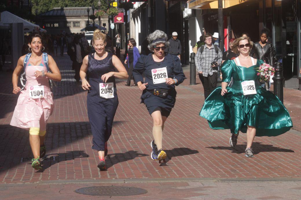 boston running with bridesmaids 2013 40