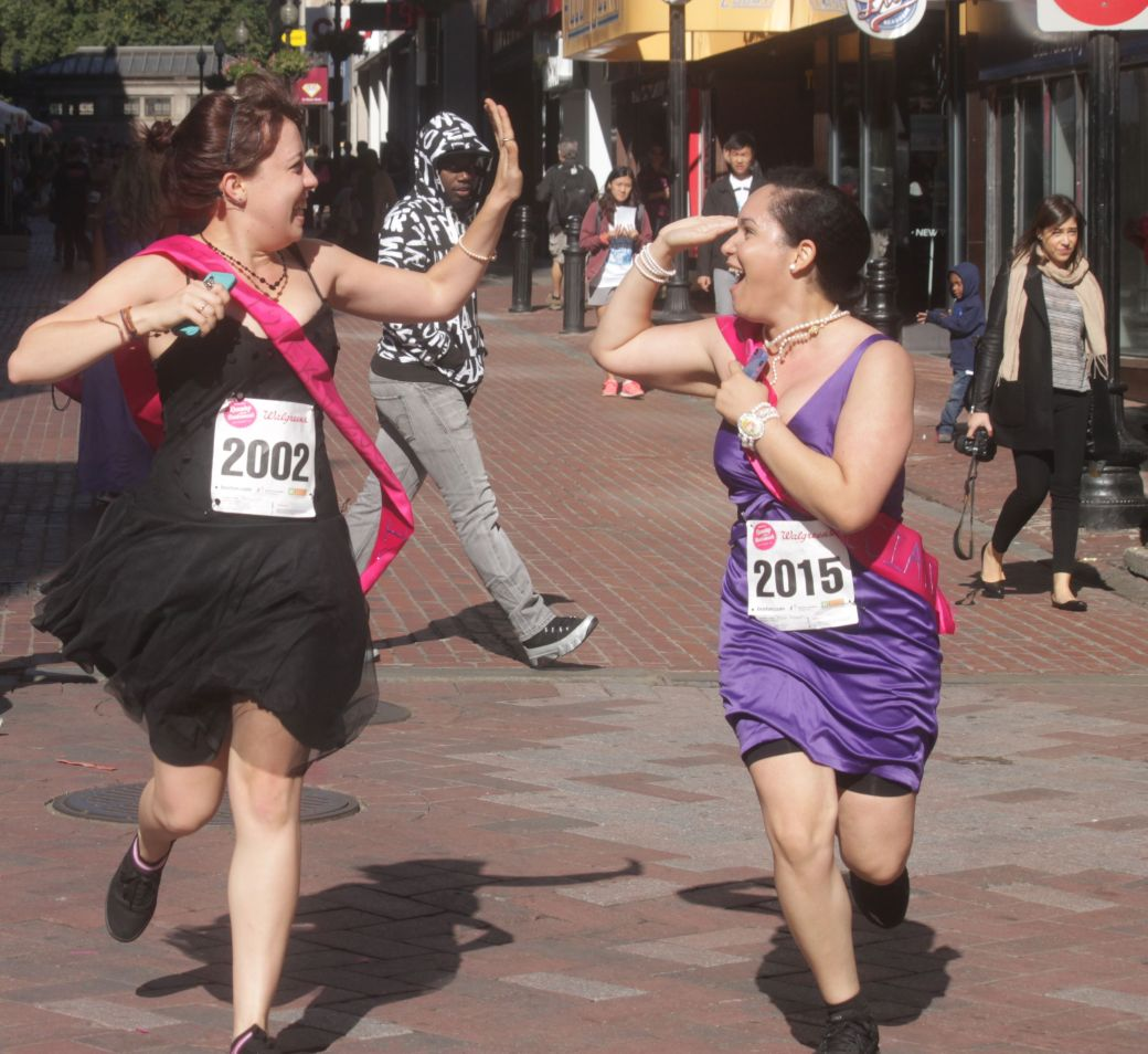 boston running with bridesmaids 2013 42