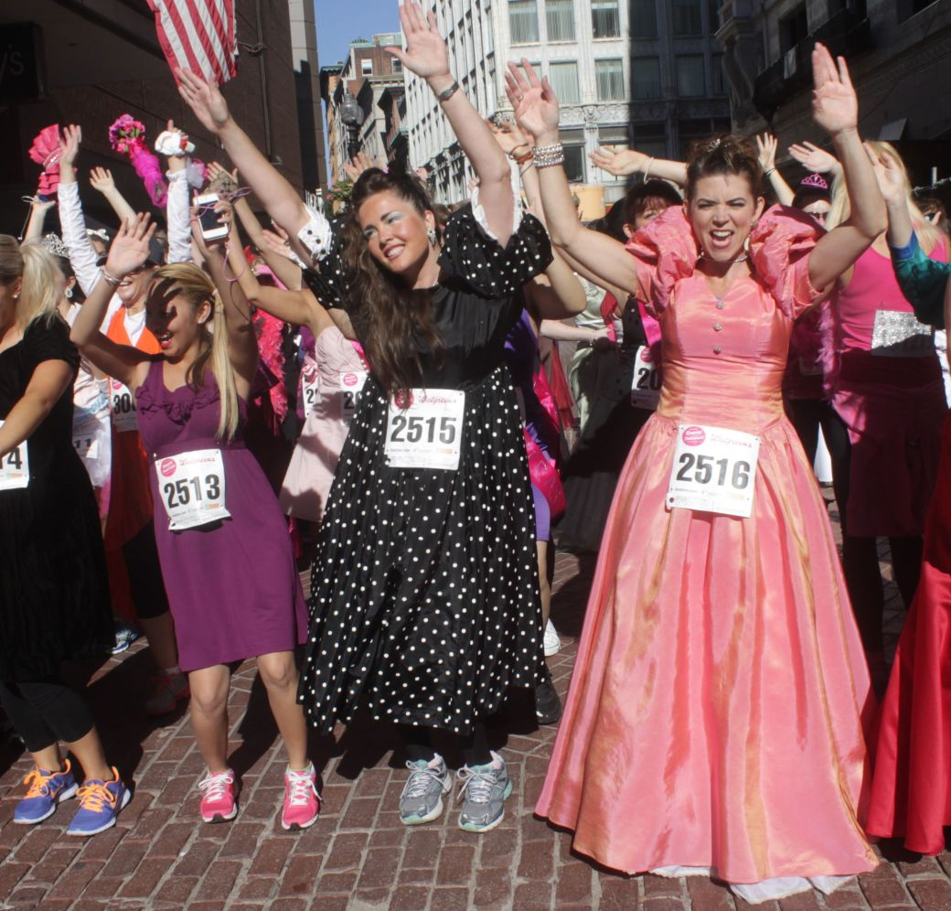 boston running with the bridesmaids 2013 31