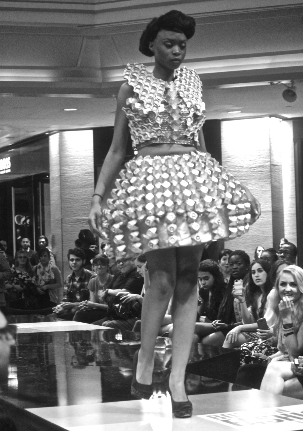 boston fashion week october 2 bottle caps dress