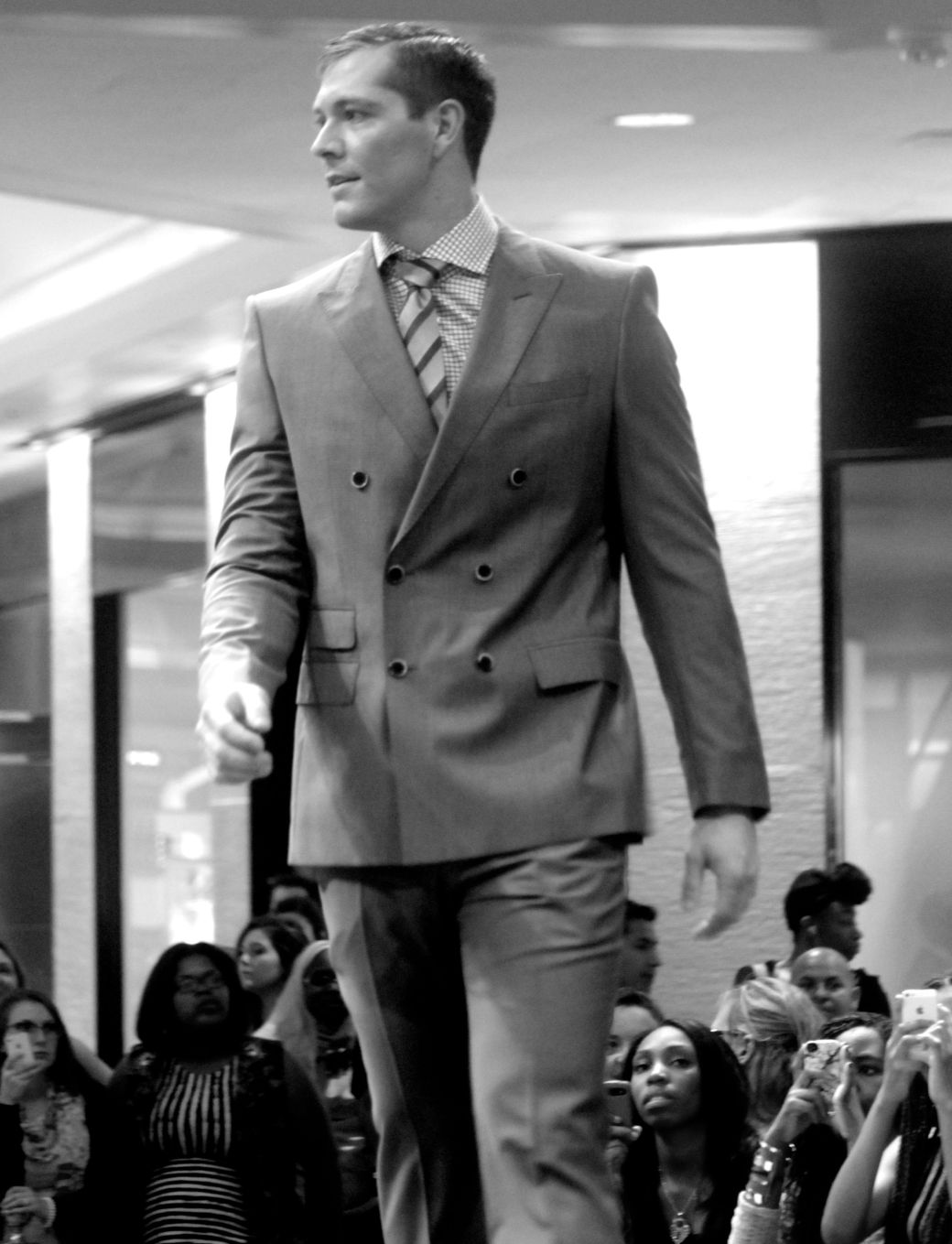 boston fashion week october 2 man in three button suit