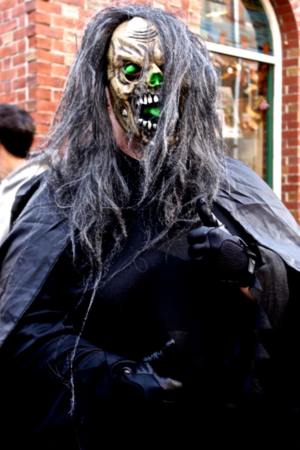 salem halloween 2013 green skeleton mask