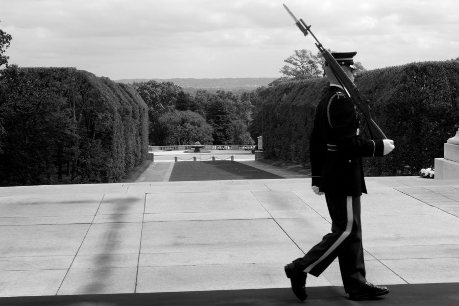 washington dc arlington national cemetery guard at the tomb of the unknown soldier 5