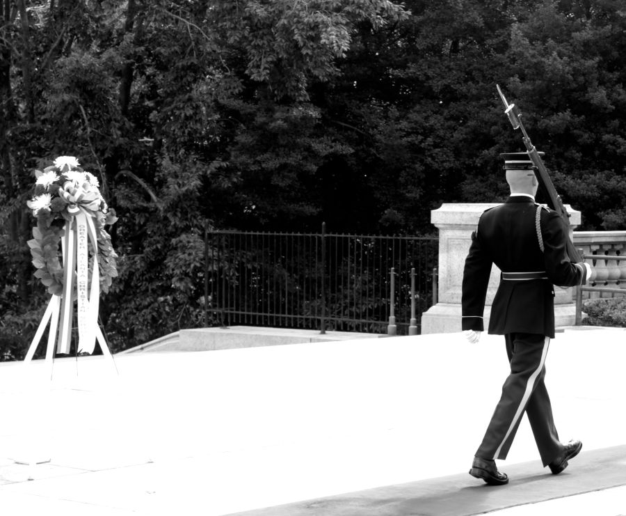 washington dc arlington national cemetery guard at the tomb of the unknown soldier 6
