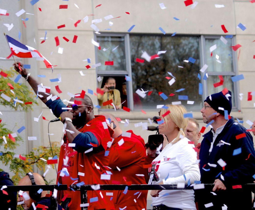 boston red sox world series celebration 2013 confetti musician