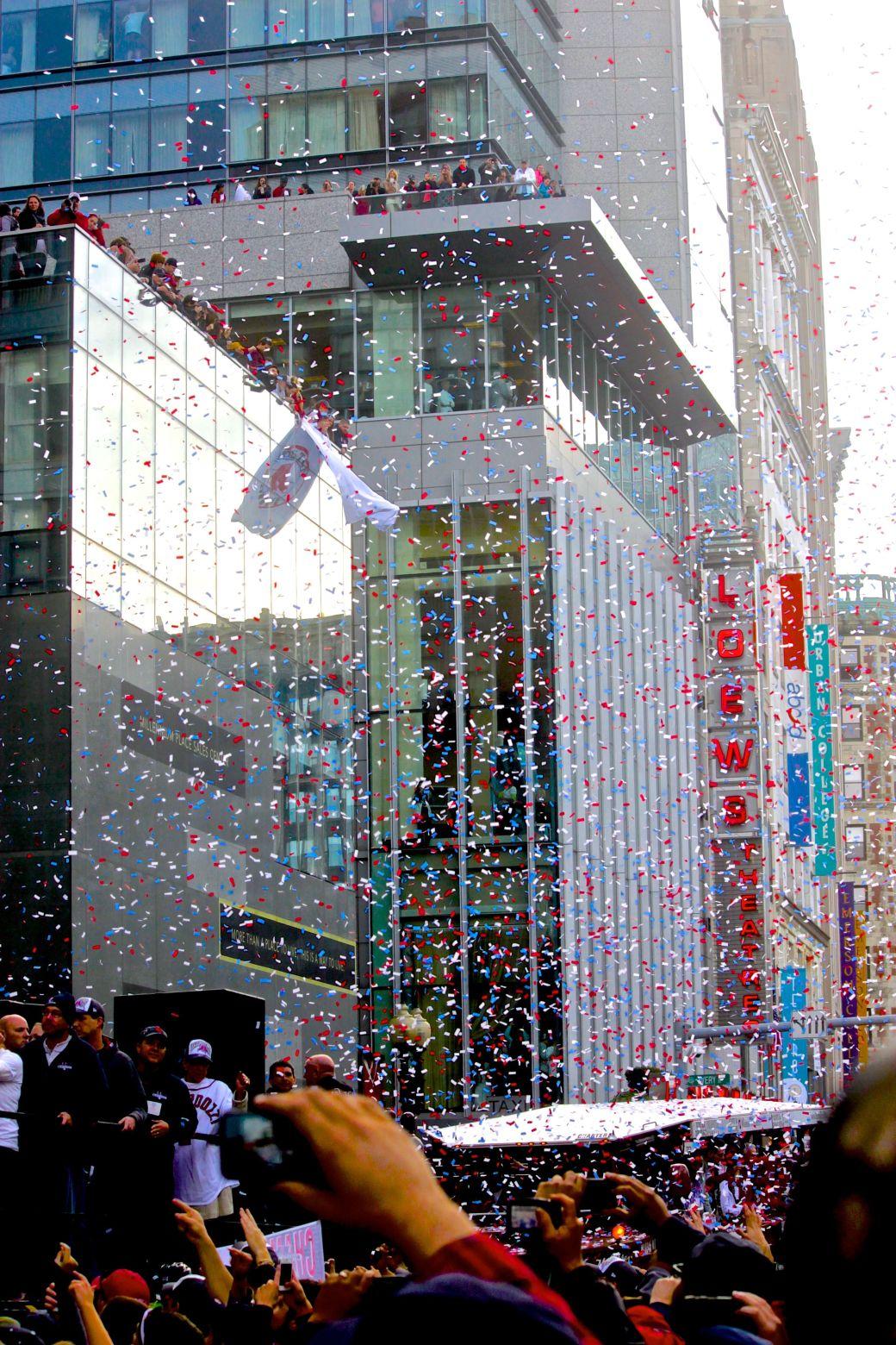 boston red sox world series celebration 2013 confetti