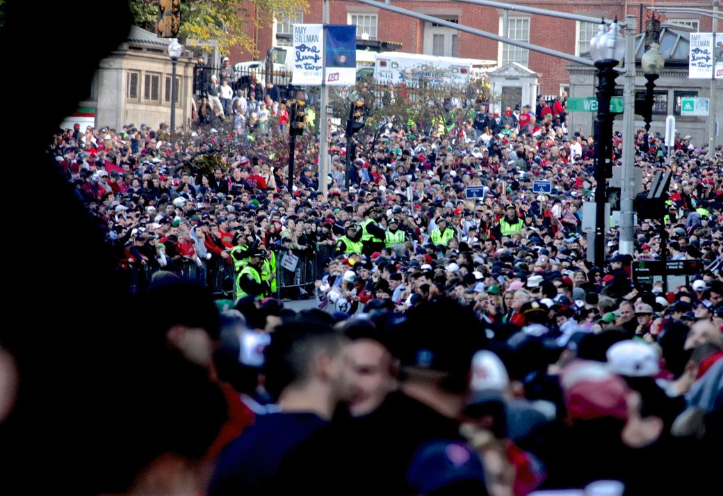 boston red sox world series celebration 2013 crowd on tremont street