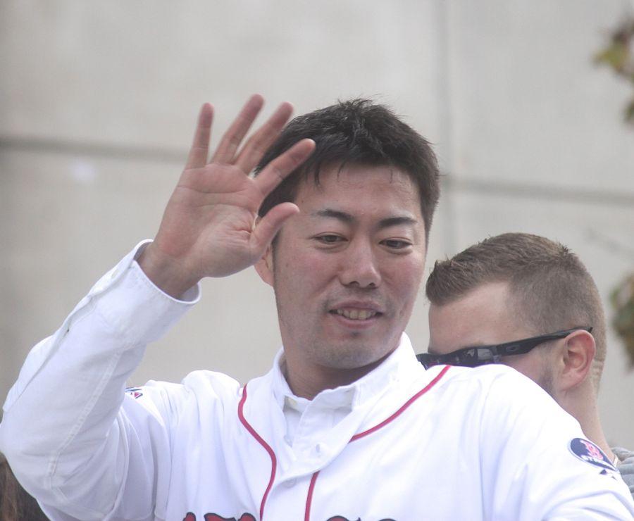 boston red sox world series celebration 2013 koji uehara 2