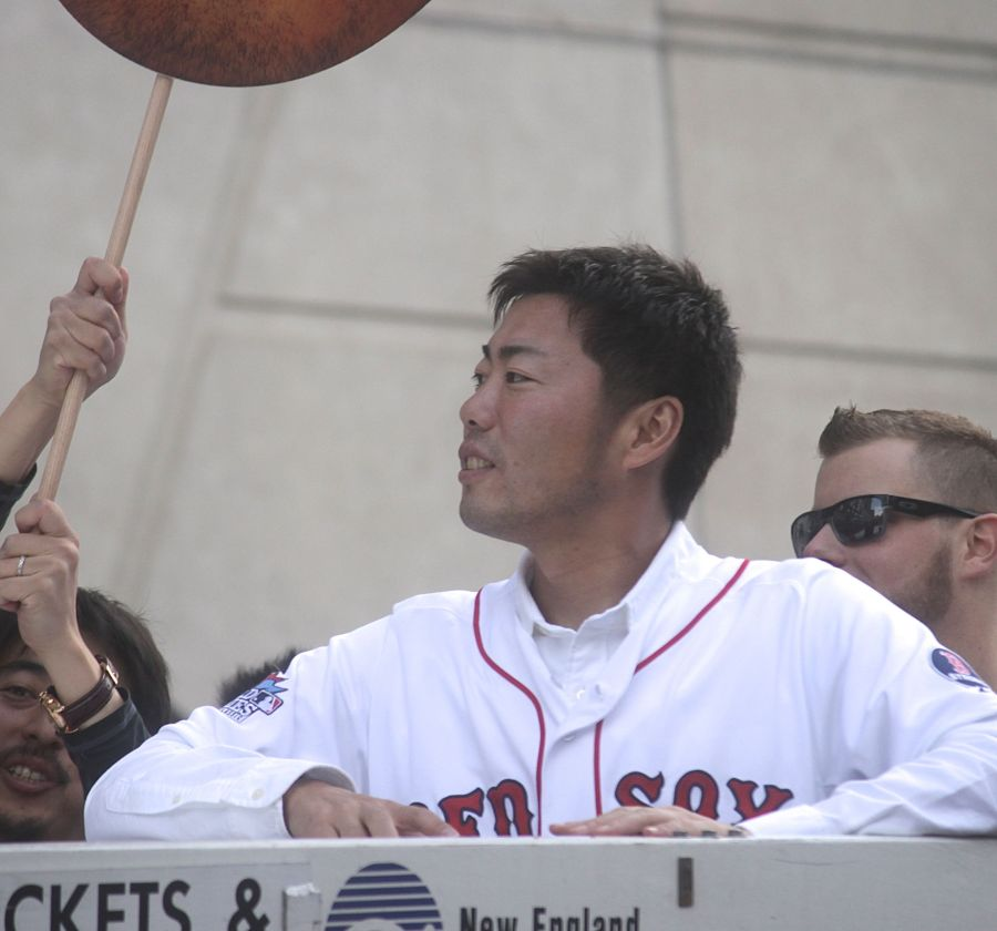 boston red sox world series celebration 2013 Koji Uehara