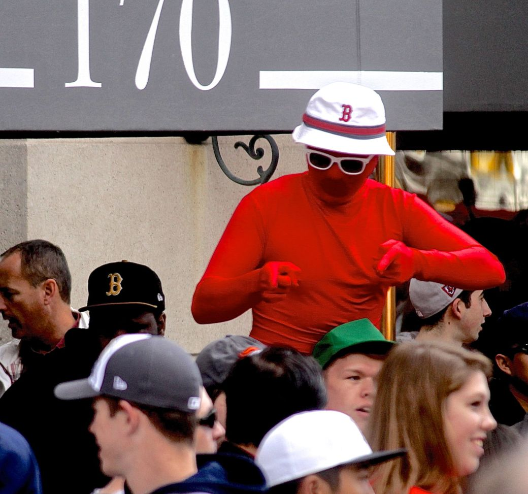 boston red sox world series celebration 2013 red suit red sox hat