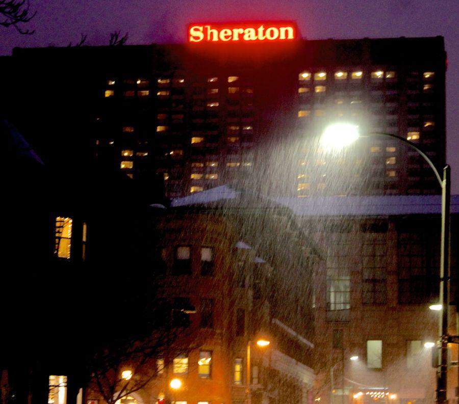 boston back bay sheraton snow