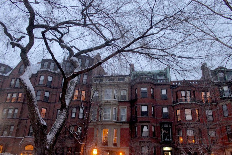 boston commonwealth avenue snow december 14 8