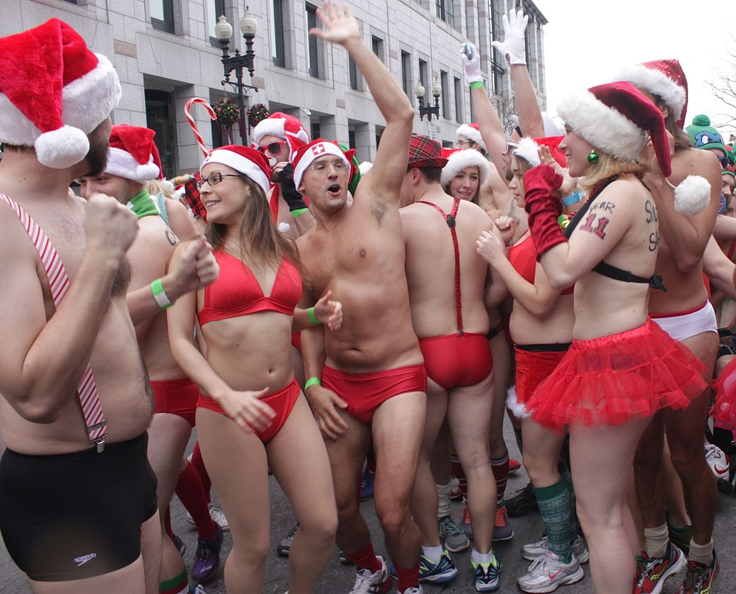 boston santa speedo run december 14 13
