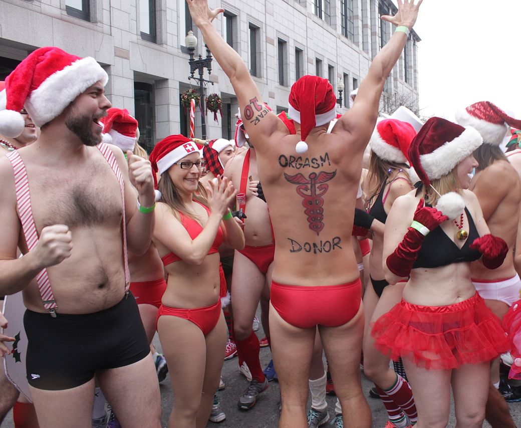 boston santa speedo run december 14 14