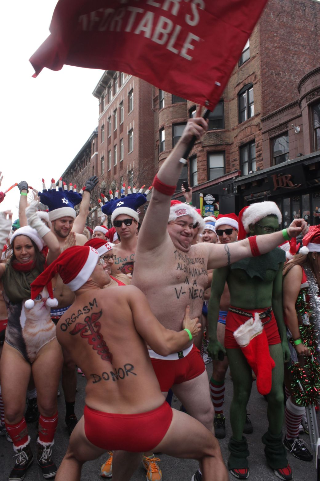 boston santa speedo run december 14 25