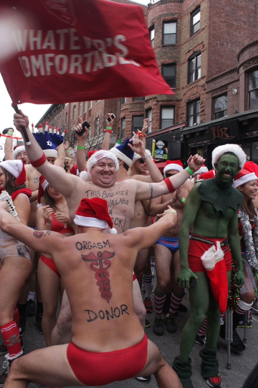 boston santa speedo run december 14 26