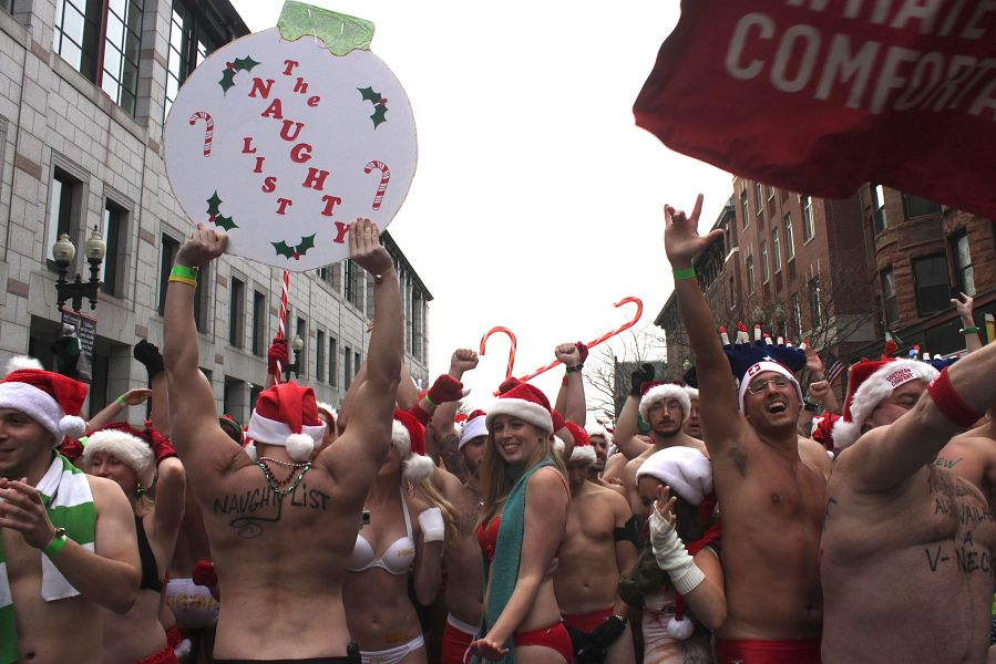 boston santa speedo run december 14 28
