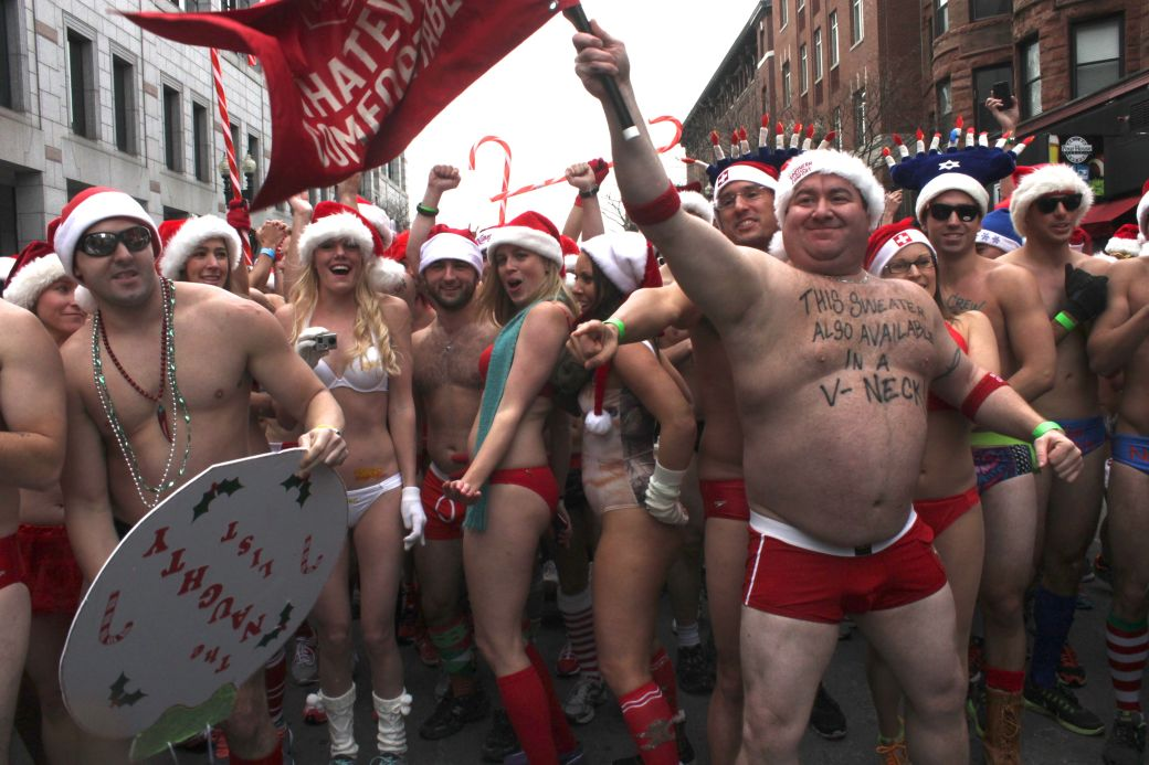 boston santa speedo run december 14 29