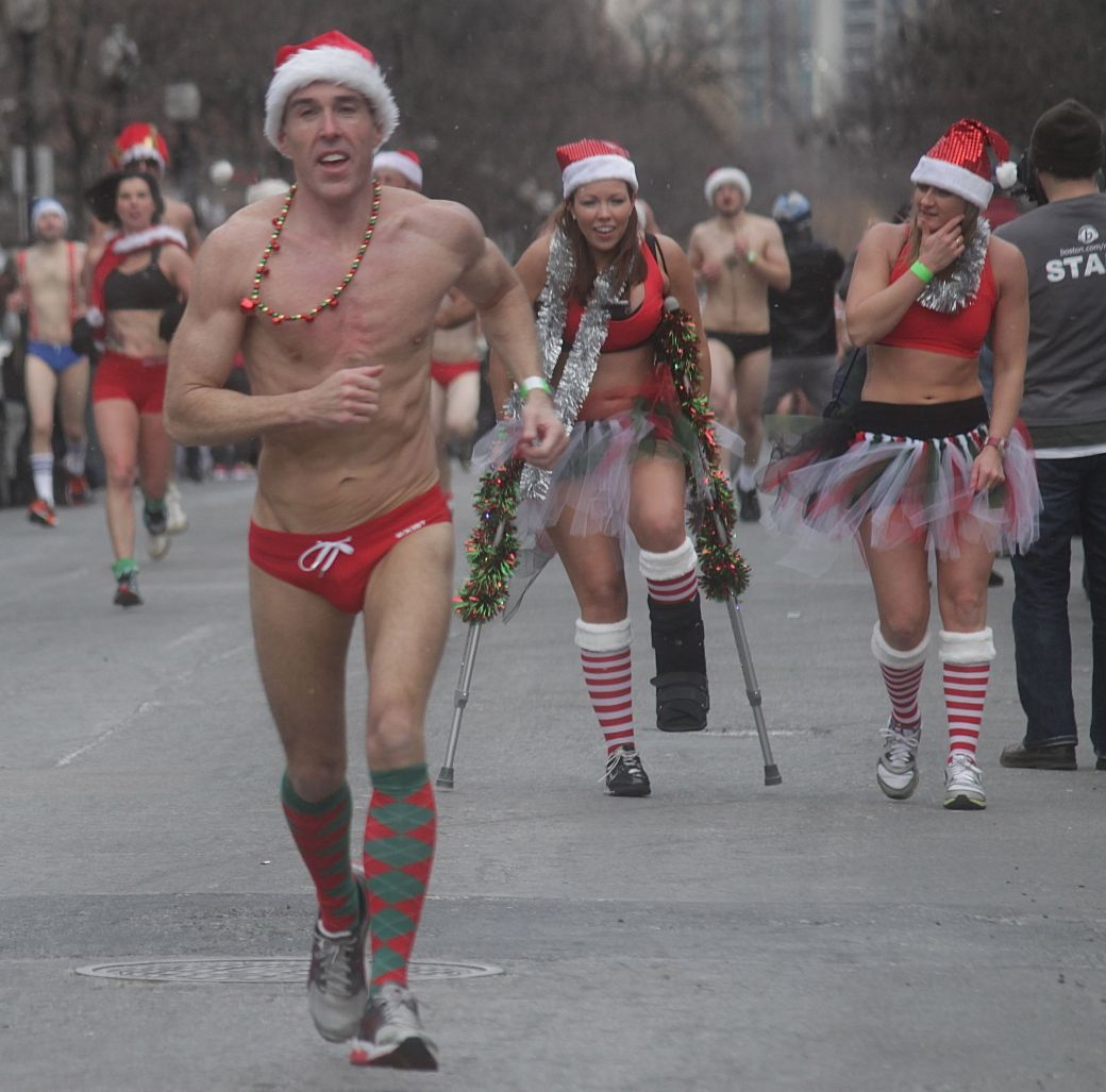boston santa speedo run december 14 45