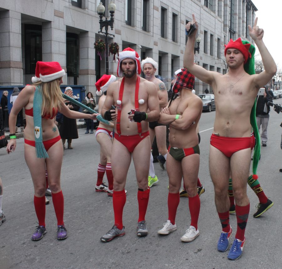 boston santa speedo run december 14 6