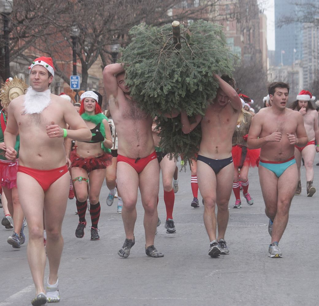 boston santa speedo run december 14 70