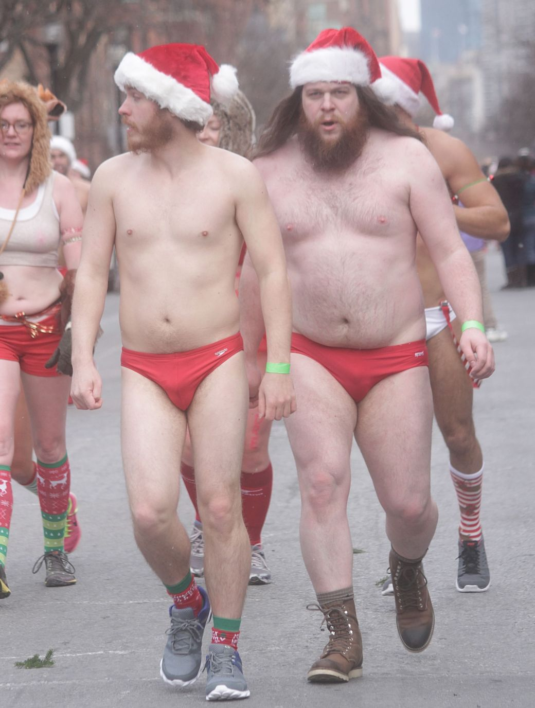 boston santa speedo run december 14 74