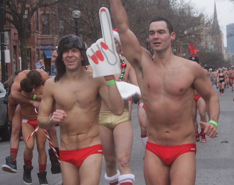 boston santa speedo run december 14 79