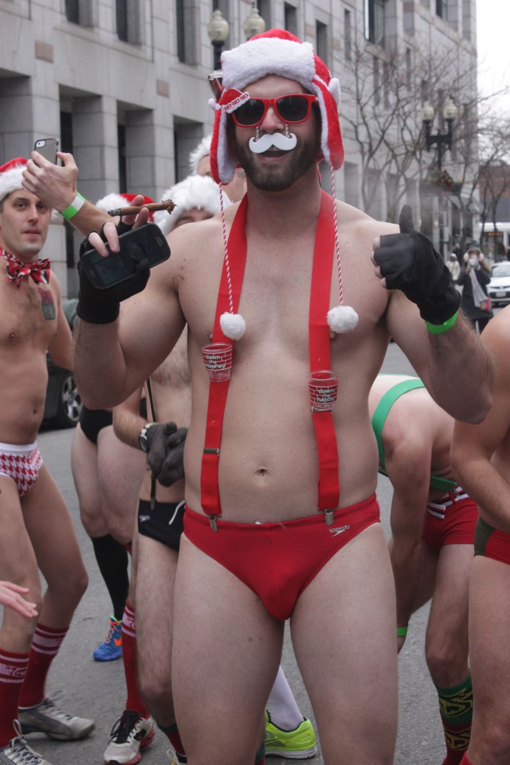 boston santa speedo run december 14 8