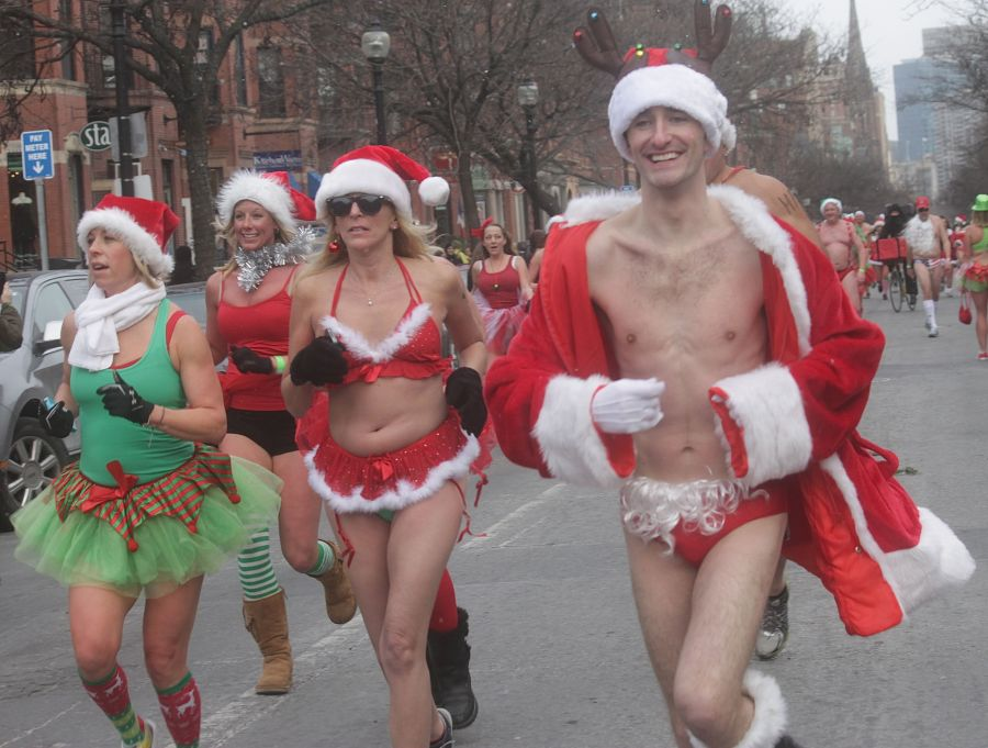 boston santa speedo run december 14 81
