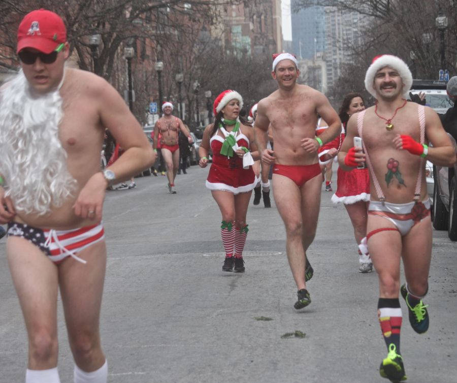 boston santa speedo run december 14 83