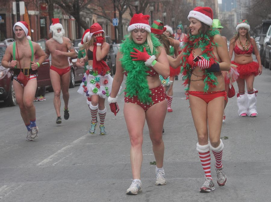 boston santa speedo run december 14 85