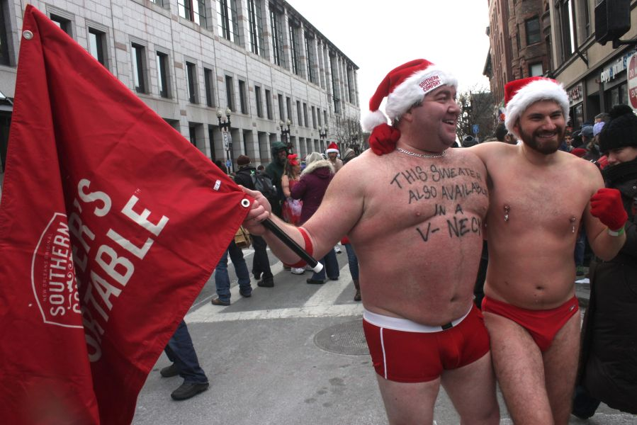 boston santa speedo run december 14 87