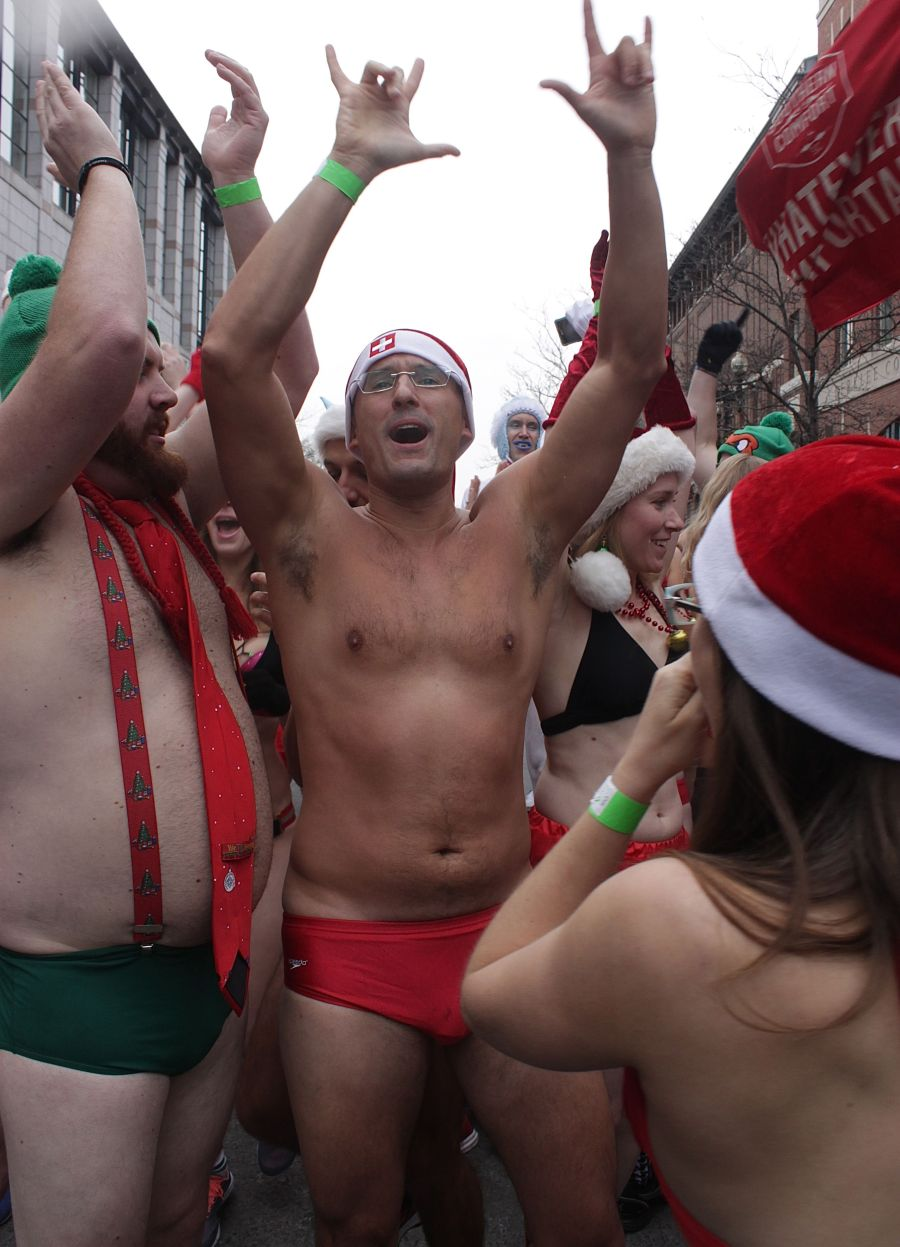 boston santa speedo run december 14 9