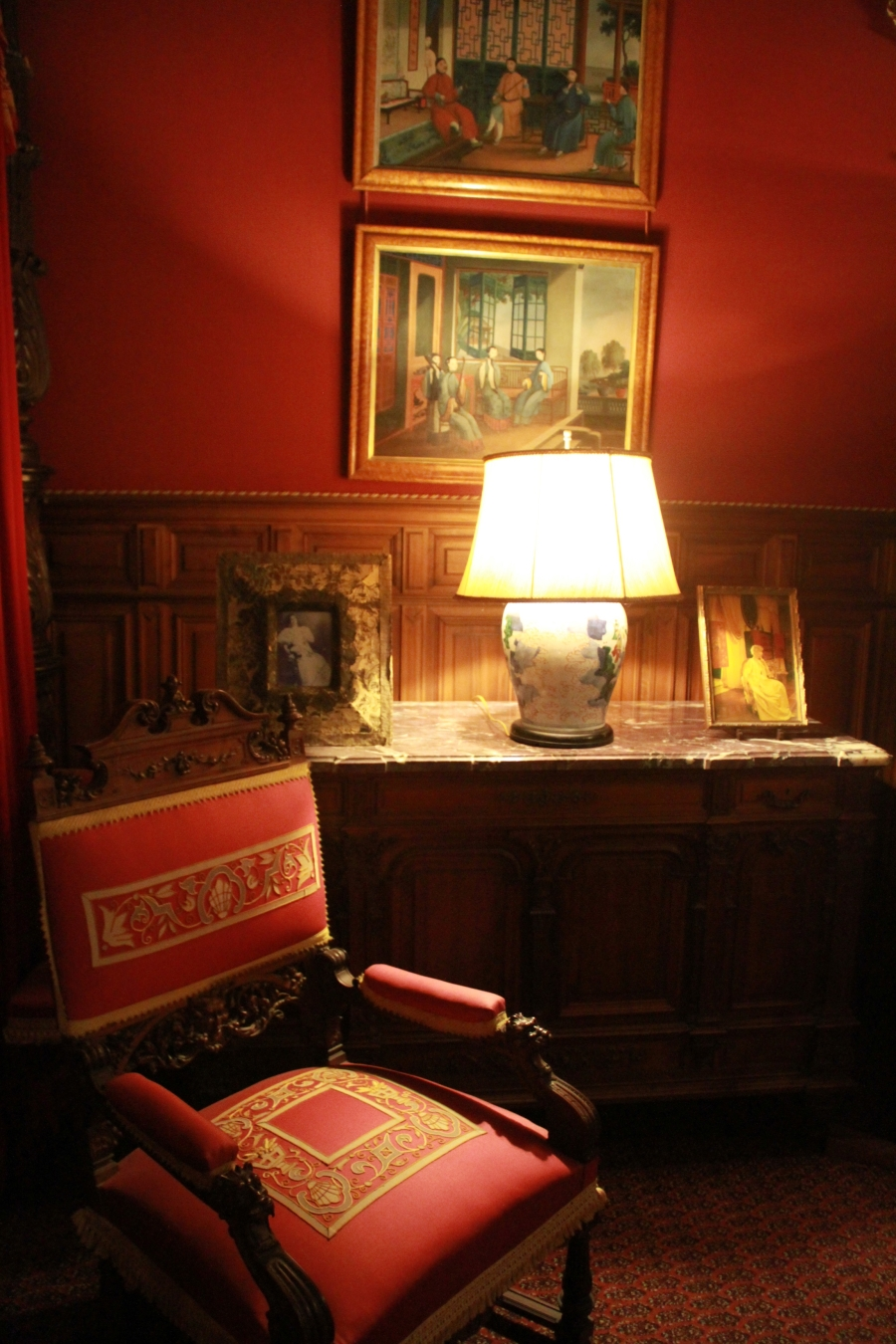 newport marble house bedroom chair