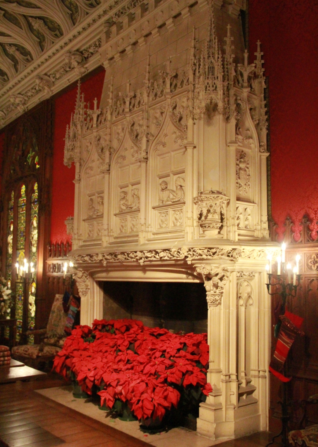 newport marble house fire place