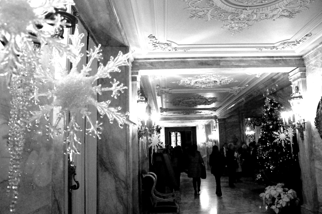 newport marble house hallway snow flake