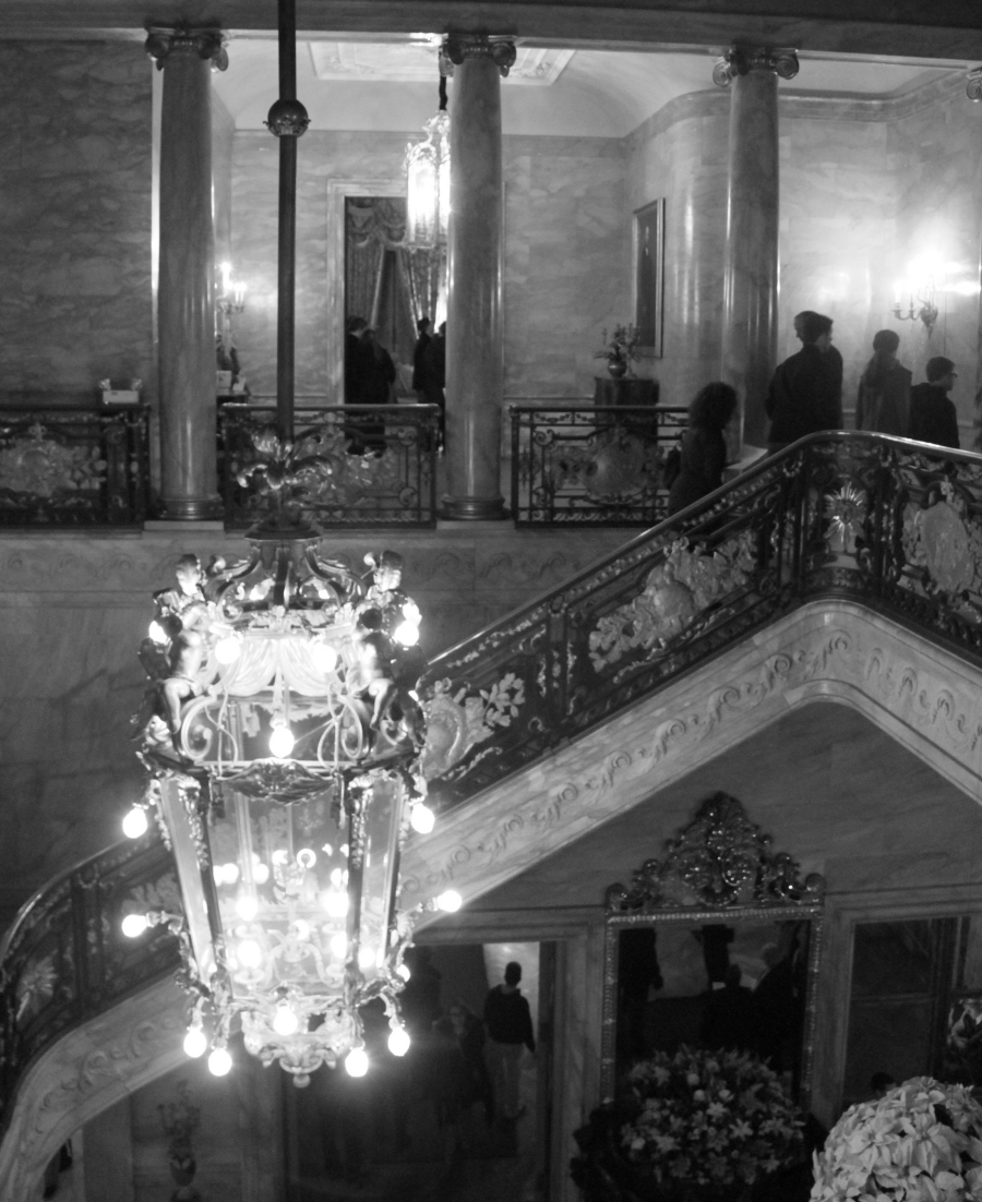 newport marble house marble staircase chandelier