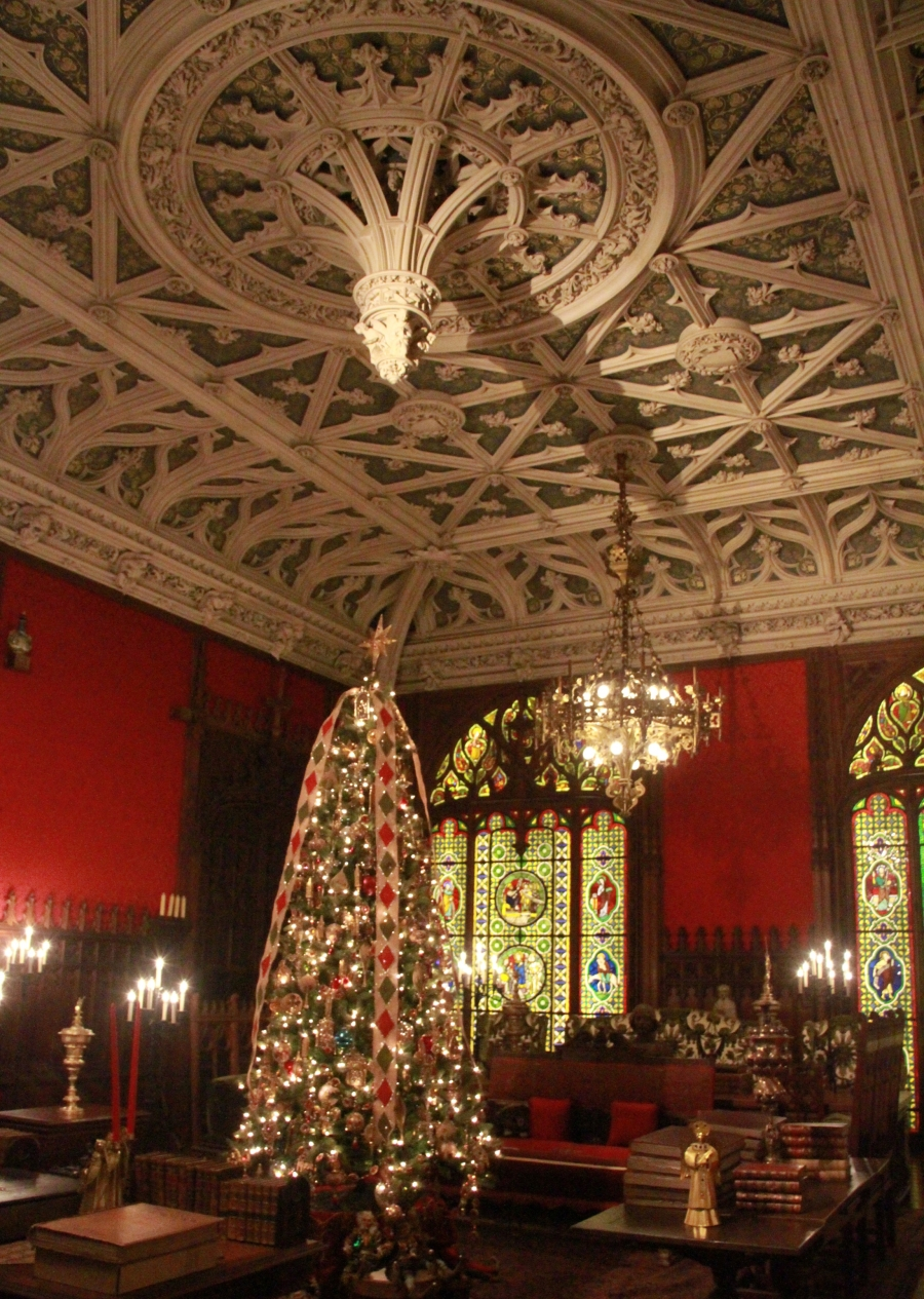 newport marble house vaulted ceiling 2