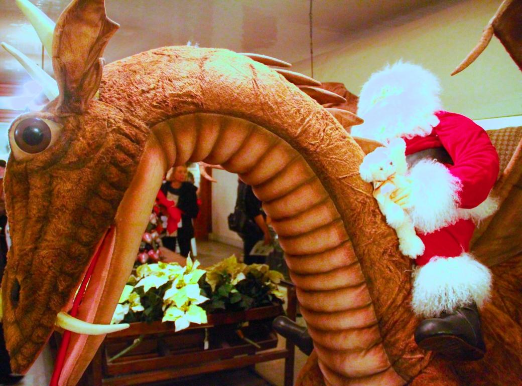 newport the elms santa claus dragon