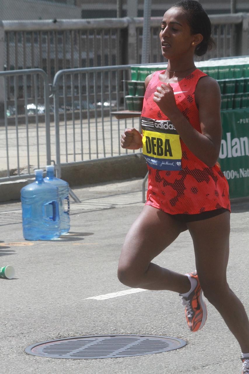 boston marathon april 21 beacon street elite runner buzunesh deba 2