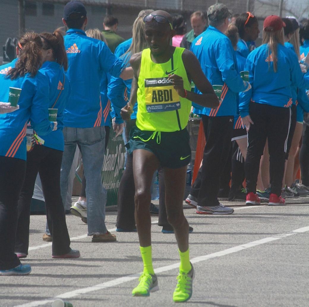 boston marathon april 21 beacon street elite runners Abdi Abdirahman