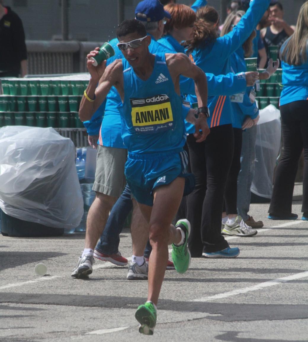 boston marathon april 21 beacon street elite runners adil annani