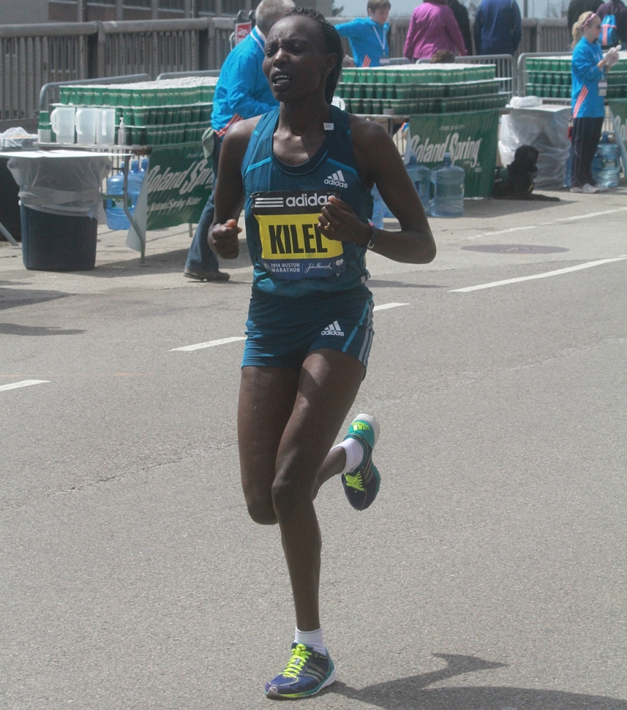 boston marathon april 21 beacon street elite runners caroline kilel