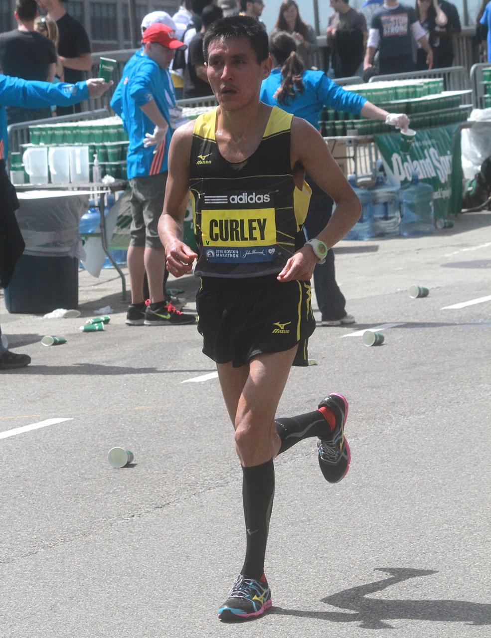 boston marathon april 21 beacon street elite runners curley