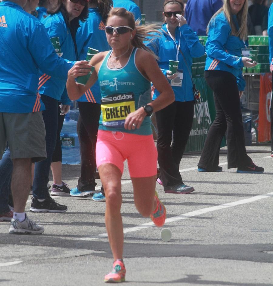 boston marathon april 21 beacon street elite runners green 2