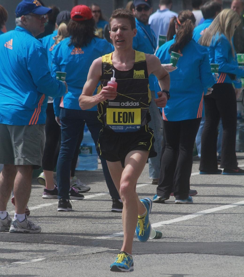 boston marathon april 21 beacon street elite runners leon