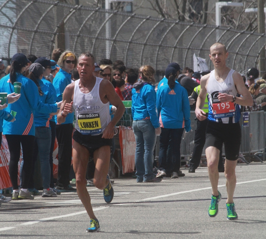 boston marathon april 21 beacon street elite runners lokken